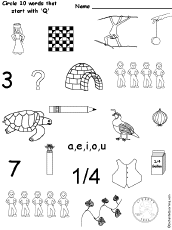 letter q alphabet activities at enchantedlearning com