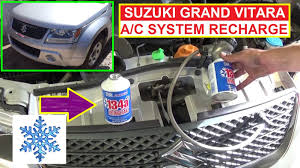 suzuki grand vitara how to recharge the a c system how to refill