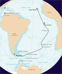 ascension islands map atlantic odyssey south to ascension island polar cruises