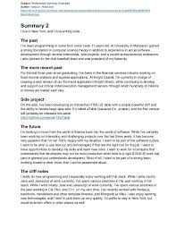 Resume For Entrepreneurs Examples by Sample Resume Career Summary Examples Of Professional Summary For