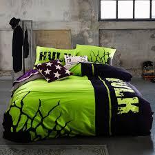Superhero Double Duvet Set Incredible Hulk Bedding Set Queen Size Marvel Super Hero Comforter
