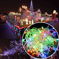 Ebay Christmas Lights Outdoor by 10m 100 Led Christmas Rgb Wedding Party Decor Outdoor Fairy String