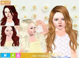 childs hairstyles sims 4 wcif modding request newsea j183 titanium hair child sims 4 studio
