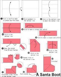How To Make A Origami Santa - how to make origami how to make santa boots origami