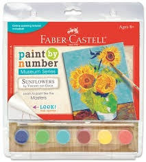 paint by number museum series sunflowers faber castell