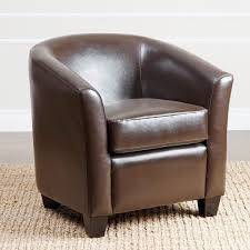Overstock Armchair Abbyson Montecito Dark Brown Leather Armchair Free Shipping