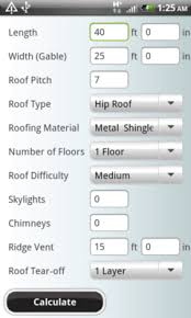 Estimating Roof Square Footage by Roofing Calculator App For Iphone And Android