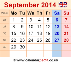 printable monthly planner september 2014 calendar september 2014 uk bank holidays excel pdf word templates