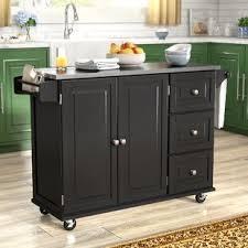 kitchen island steel stainless steel kitchen islands carts you ll