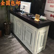 Vintage Salon Reception Desk Usd 203 67 Vintage Checkout Counter Make Old Clothes Shop Small