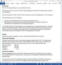 project summary report example sample project summary template 8