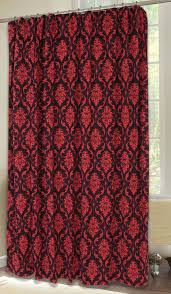 Shower Curtains With Red Red Damask Shower Curtain Carstens Inc
