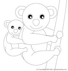 koala bear coloring page mom and baby koala coloring page