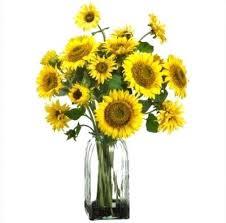 Artificial Sunflowers Artificial Floral Arrangements Centerpieces Yellow Silk Sunflowers