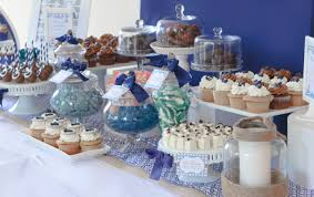 Bridal Shower Table Decorations by Navy And White Nautical Candy And Dessert Table Quatrefoil