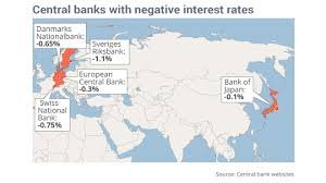 Map Snap Usa by This Map Shows All The Central Banks With Negative Interest Rates