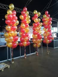 balloon floor arrangements we made for the city to surf