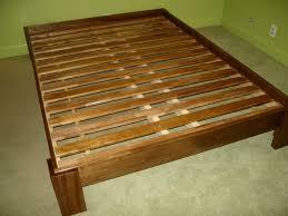 bedroom amusing natural wooden king platform bed frame for simple