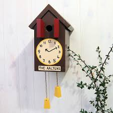 personalised cuckoo clock bird box by lindleywood