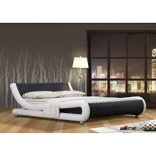 chambre a coucher cdiscount lit vague lit design adulte virginie noir et blanc simili cuir