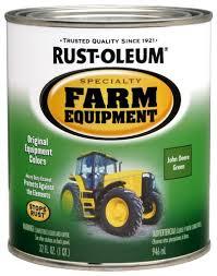 rust oleum specialty john deere green farm equipment paint 1 qt