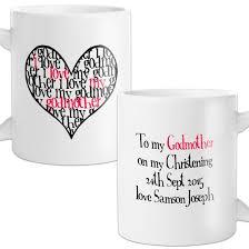Godmother Mug Personalised I Love My Godmother Mug Find Me A Gift