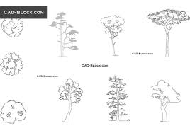 trees and plants free cad blocks dwg files download