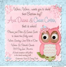 baby owl twin baptism invitation baptism invitations and baby owl