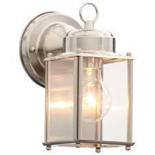 outdoor wall lantern lights progress lighting brushed nickel outdoor wall lantern p5607 09 the