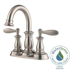 pfister bathroom sink faucets pfister venturi 4 in centerset 2 handle bathroom faucet in brushed