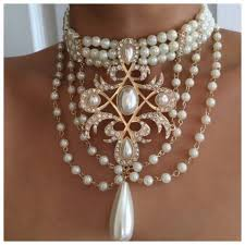 pendant choker necklace images Charming pendant pearl choker necklace frugal finds nyc jpg