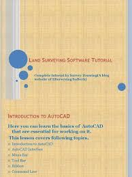 tutorial autocad line land surveying software autocad tutorial