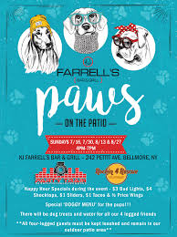 Long Island Patio by Paws On The Patio A Dogs Day Out Kj Farrells Bar And Grill
