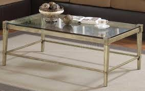 small clear glass table l glass metal coffee table writehookstudio com