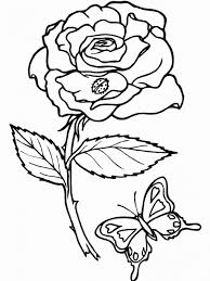 coloring pages draw a rose for kids free printable roses coloring