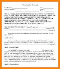 construction contracts templat best resumes