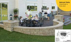Patio Layouts And Designs Landscaping Patio Ideas With Free Patio Plan Downloads