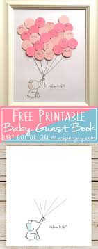 baby shower sign in elephant baby shower guest book printable aspen