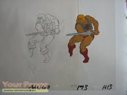 he man and the masters of the universe he man sketch and animation