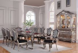 antique platinum formal dining table set