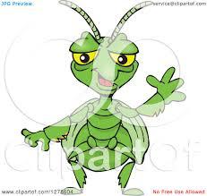 clipart of a praying mantis waving royalty free vector