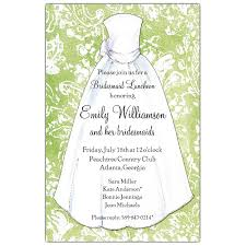 bridesmaids luncheon invitations green damask bridesmaids luncheon invitations paperstyle
