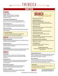 menu for brunch brunch menu tribeca tavern