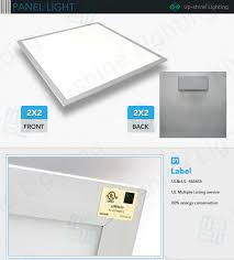 2 X 4 Ceiling Light Panels Ul Dlc Approved 50w 0 10v Dimming Recessed 2x2 Led Drop Ceiling