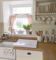 cottage kitchen with cafe style susie watson curtains