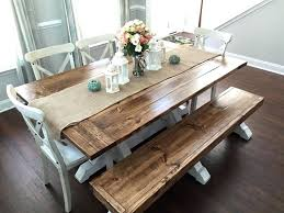 dining table picnic table style dining room table farmhouse