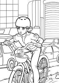 barbie thumbelina riding bike vanessa colouring barbie