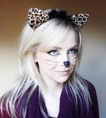 Scary Cat Halloween Makeup Cat Makeup For Simple How To Mugeek Vidalondon