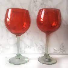 red wine glasses u2013 sleek elegant stemmed blown wine glass u2013 la