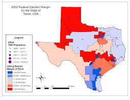 Texas Election Map by Geography 586